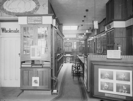 Kodak shop interior, Dublin, c 1900.