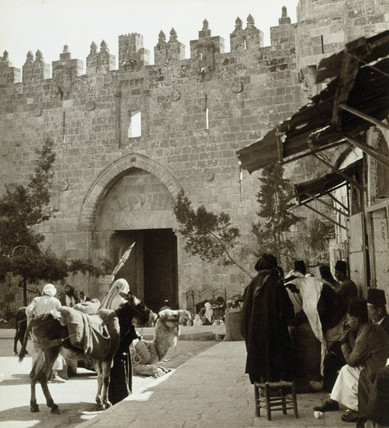 The Damascus Gate, Jerusalem, 1932.