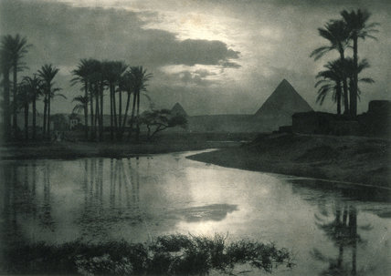'Evening Near the Pyramids', 1896.