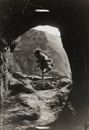 Miss Phyllis Fildes, dancing instructress, Land's End, Cornwall, 8 April 1933.