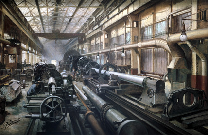 Making heavy forgings, Grimesthorpe Steel and Ordnance Works, 1914-1918.