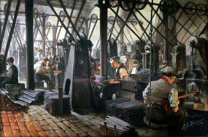 Forging files, Cyclops Steel and Iron Works, Sheffield, Yorkshire, 1914-1918.