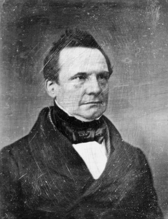 Charles Babbage, British mathematician and computing pioneer, 1843.