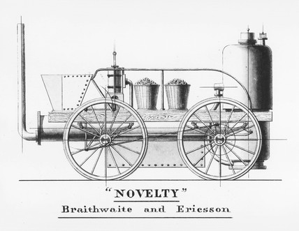 Braithwaite and Ericson's 'Novelty', 1829.