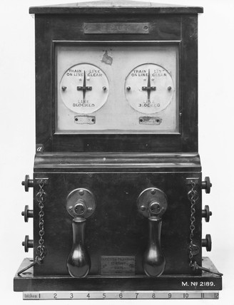 Clark's block signalling telegraph instrument, 1854.