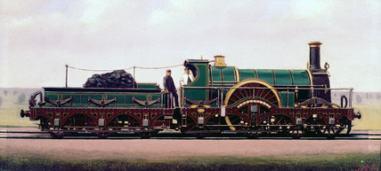 'Sebastopol' 4-2-2 steam locomotive, 1880.