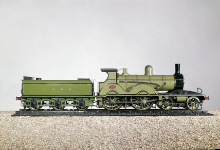 London & South Western Railway expres locomotive, 1890.