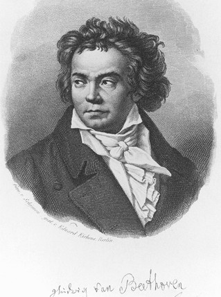 Ludwig van Beethoven, German composer, c 1800.