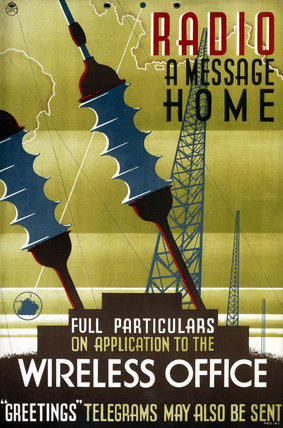 'Radio a message home', c 1930-1955.