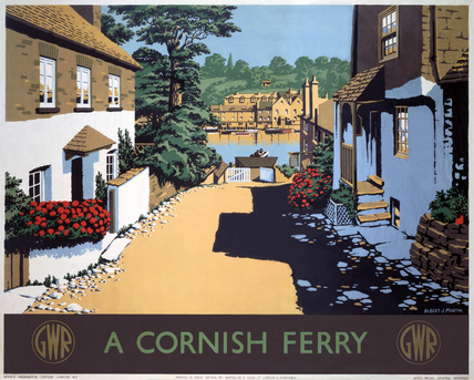 'A Cornish Ferry' , GWR poster, 1945.