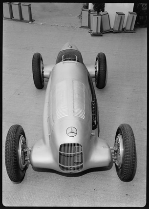 Mercedes-Benz W25 GP display racing car, Germany, 1930s.