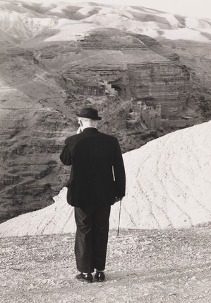 John Betjeman in the Holy Land, December 1966.