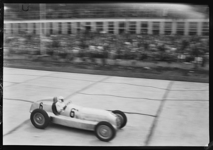 Rudolf Caracciola in his Mercedes-Benz, German Grand Prix, Nurburgring, 1934.