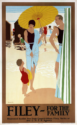 'Filey for the Family', LNER poster, c 1925.