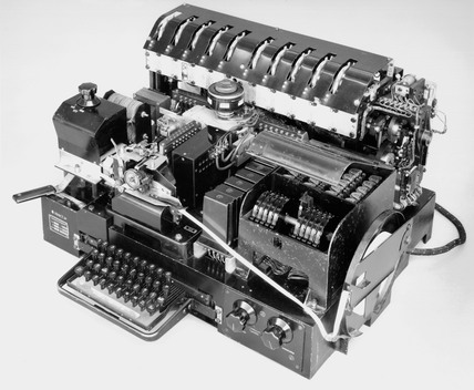 Siemens and Halske T52e teleprinter cipher machine, c WWII.
