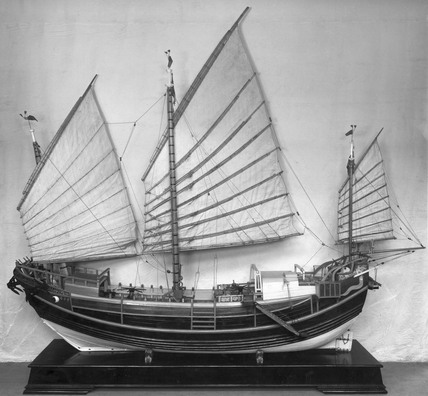 Rigged model of a Yoochow junk