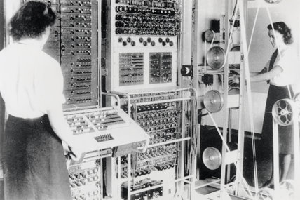Wrens operating the 'Colossus' computer, 1943.