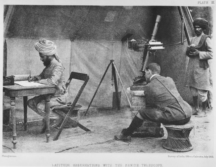 A surveyor working on the Survey of India, 1905.