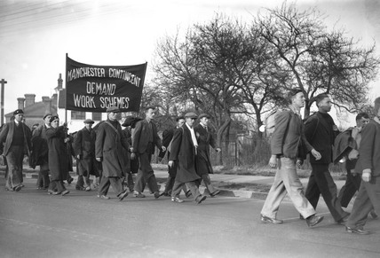 Hunger marchers from Manchester, 23 Februar