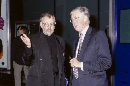 Science Museum director Dr Lindsay Sharp and Michael Meacher, 2002.