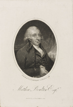 Matthew Boulton, English engineer and industrialist, 1803.