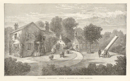 'Fireside, Patricroft' after a drawing by James Nasmyth, c 1840.