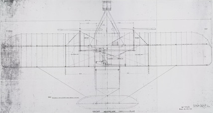 Plan of Wright 'Flyer', 1903.
