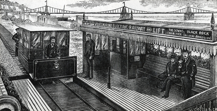 Volk's Marine Electric Railway, Brighton, East Sussex, 1883.