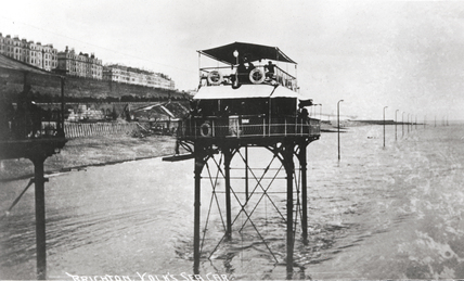 Volk's sea car, Kemptown, Brighton, East Sussex, 1896-1901.