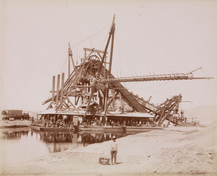 Dredger 'Lucy', Mexico, 1894.