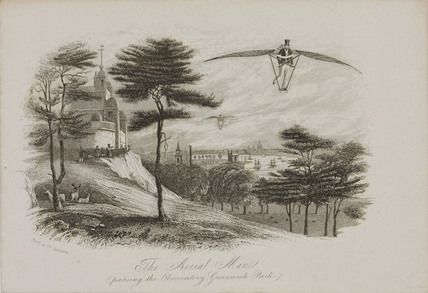 'The aerial Man', Greenwich, London, 1809-1812.
