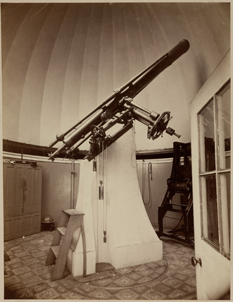 Refracting telescope with equatorial mounting, Washington DC, USA, 1876.