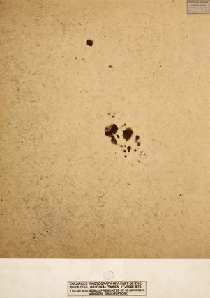Enlarged photograph of a part of the Sun's disc;original taken 1st June 1878.
