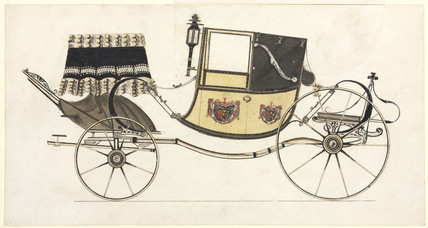 Dress landaulet carriage, c 1870.