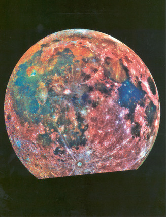 False colour view of the moon, April 1993.