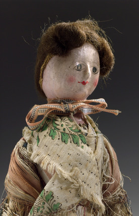Wooden doll, English, c 1780.