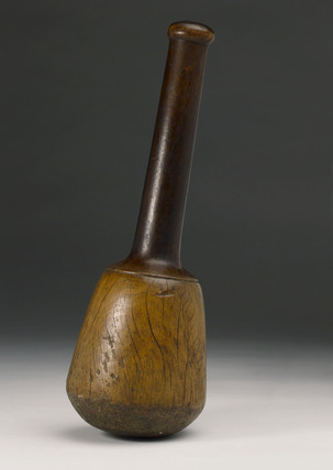 Turned wood pestle, European, 1651-1850.