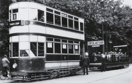 Roelane double deck electric tram, Southport, Merseyside, 1932.