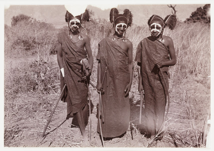 Three African tribesmen, c 1905.