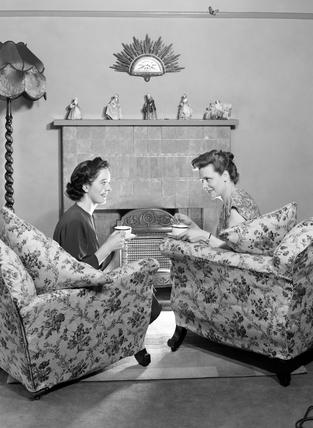 Two women talking, 1948.