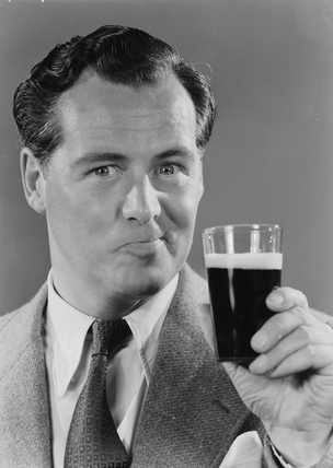 Man with a glass of beer, 1952.