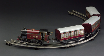 Model steam locomotive, c 1939.
