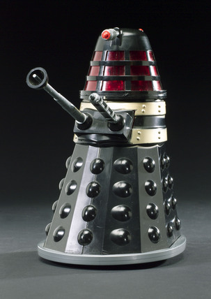 Toy Dalek from the BBC TV series 'Dr Who', c 1966.