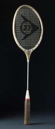 Dunlop Maxply Under 5 badminton racket with steel shaft, c 1965.