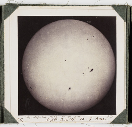 The Sun, taken at 10.05 am, 24 September 1861.