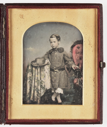 Daguerreotype of a young boy, c 1850.
