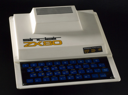 Sinclair ZX80 microcomputer, 1980.