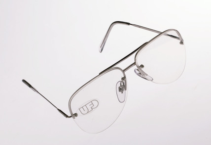 Pair of child size metal framed aviator spectacles, Italian, 1975-1985.