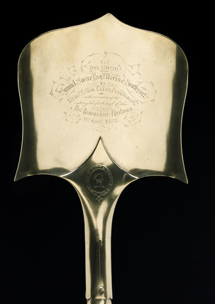 Ceremonial spade, West Lancashire Railway, 1873.