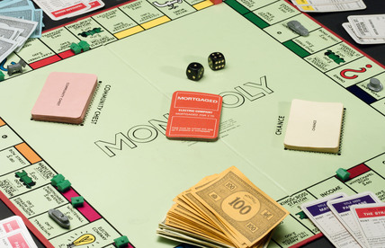 Monopoly board game, c 1990.